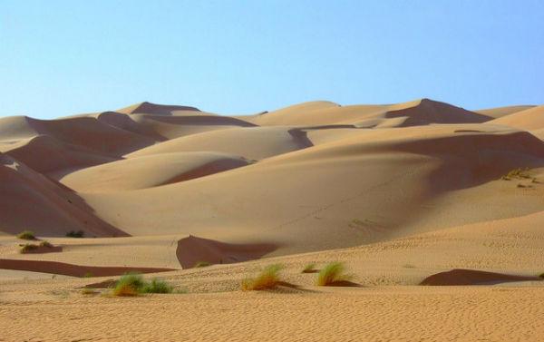Le désert du Sahara.
