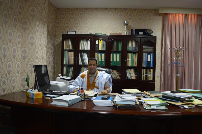 Moctar Ould Diay (Mauritanie), ministre de l'Economie et des Finances. A Noukchott, le 12.10.2016.