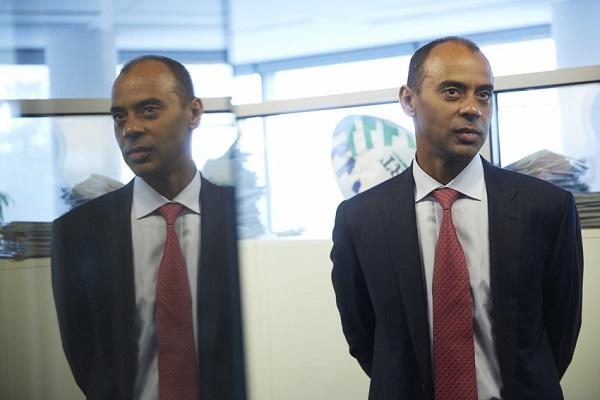 Thierry Tanoh, directeur général d'Ecobank, chez RFI. Le 6 septembre 2013.
