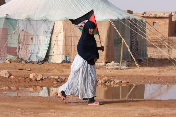 Dans le camp de réfugiés de Laâyoune, dans la région du Sahara occidental, en 2009.