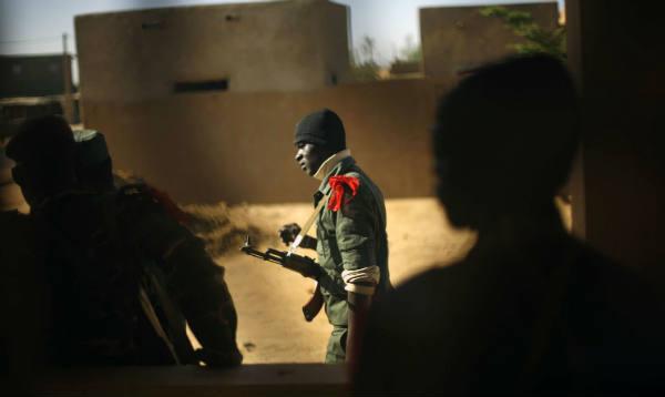 Un soldat malien à Gao, le 7 février 2013.
