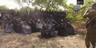 Les lycéennes de Chibok enlevées par Boko Haram dans une vidéo diffusée par le groupe terroriste, le 12 mai 2014.