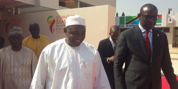 Adama Barrow, à Bamako, le 14 janvier 2017. © Benjamin Roger pour Jeune Afrique