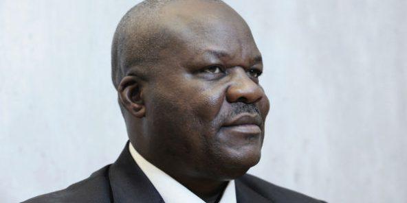 Le Congolais Roger Lumbala à Paris, le 21 septembre 2012