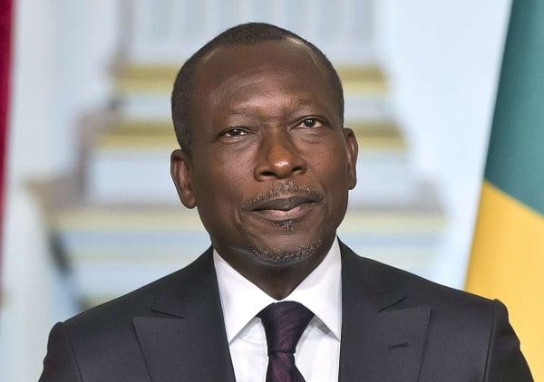 Patrice Talon, le président béninois, à l'Élysée le 16 avril 2016.