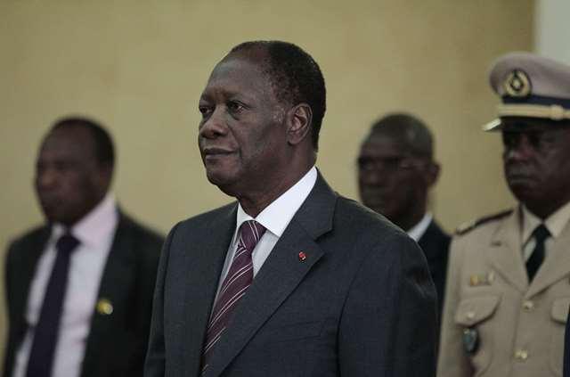 Le président ivoirien Alassane Dramane Ouattara à Dakar le 13 mai 2011.