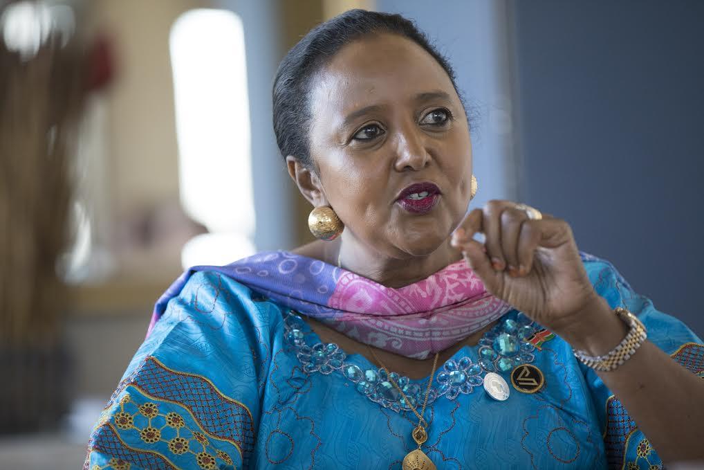 La ministre kényane, Amina Mohamed, en janvier 2016 à Addis-Abeba.