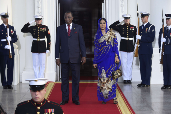 Idriss Déby Itno et Hinda Déby Itno, en août 2014.