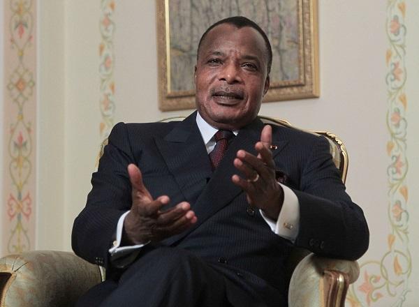 Le président congolais, Denis Sassou-Nguesso, en 2012.