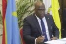 Félix Tshisekedi lors de la signature de l'accord politique conclu le 31 décembre à Kinshasa, en République démocratique du Congo.