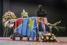 Le cercueil d'Étienne Tshisekedi, à Bruxelles, le 5 février 2017.