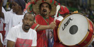 Des supporters de l'équipe de football du Maroc durant la CAN 2017, au Gabon.