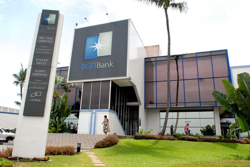 Agence centrale de la BGFI Bank à Libreville, au Gabon.