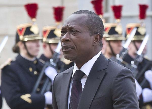 Le président béninois Patrice Talon, à l'Élysée, à Paris, le 26 avril 2016.