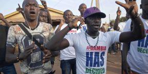 A Serrekunda en Gambie, le 19 janvier 2017, après la prestation de serment d'Adama Barrow.