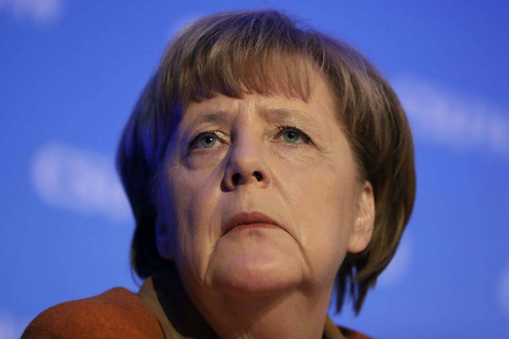 La chancelière allemande Angela Merkel, lors d'un discours en février 2017.