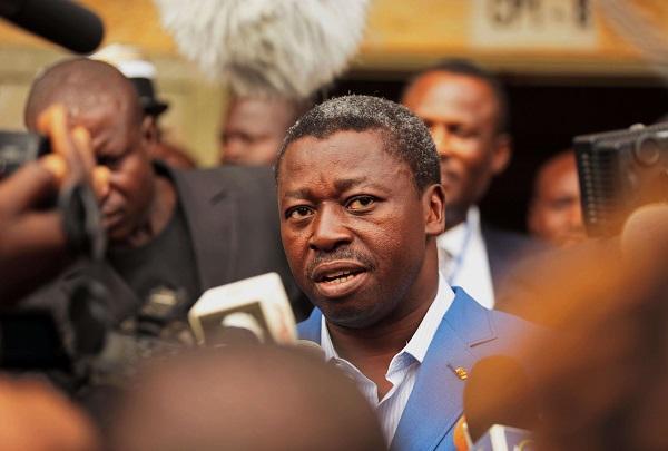 Le président togolais Faure Gnassingbé, à Lomé, le 25 avril 2015.