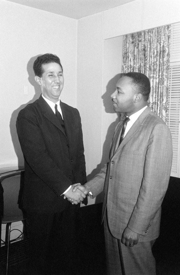 Ben Bella et Martin Luther King à New York en 1962. Crédit : Bettmann Archive/Getty