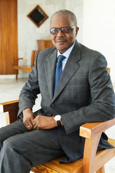Ousmane Tanor Dieng, secrétaire général du Parti Socialiste, Dakar, mars 2017.