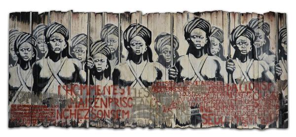 L'aulne du printemps, une oeuvre de Kouka Ntadi