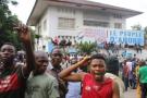 Des partisans de l'Union pour la démocratie et le progrès social (UDPS), principal parti de l'opposition congolaise à Kinshasa, le 2 février 2017