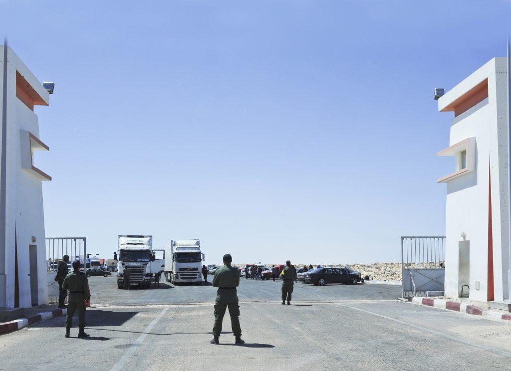 Poste-frontière marocain de Guerguerat, donnant accès à la zone tampon entre le royaume et la Mauritanie.