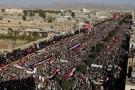 Rassemblement houtiste le 12 octobre 2016 à Saana au Yémen
