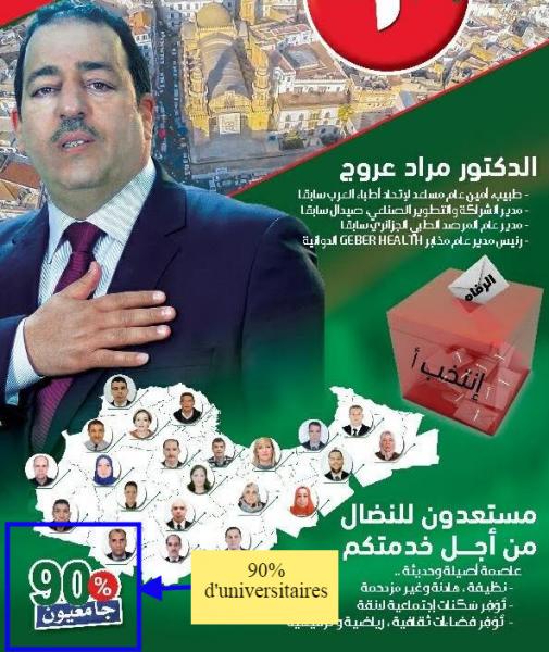 Le docteur Mourad Aroudj, candidat aux législatives algériennes de 2017 et ami des universitaires.