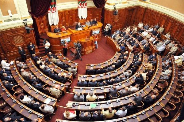 L'Assemblée nationale populaire,à Alger.