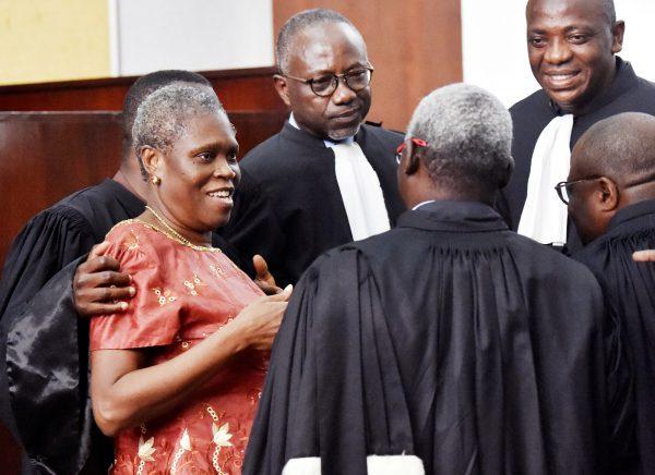 Simone lors de l'ouverture de son procès devant la Cour d'assises d'Abidjan, le 9mai 2016.