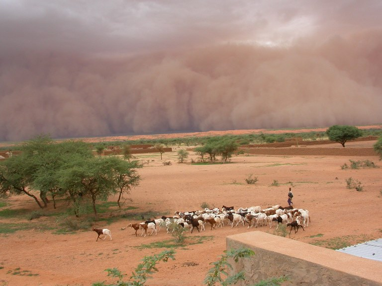 Tempête extrême dans le Sahel.