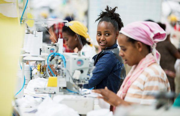 L'industrie textile éthiopienne a réussi à s'imposer sur les marchés internationaux (ici, à Addis-Abeba).
