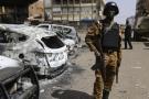 À Ouagadougou, au Burkina Faso, en janvier 2016 après l'attaque qui a notamment frappé l'hôtel Splendid et le café Cappuccino.