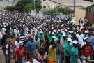 Une manifestation à Libreville en 2012.
