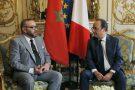 Mohammed VI et François Hollande à l'Élysée, le 2 mai 2017