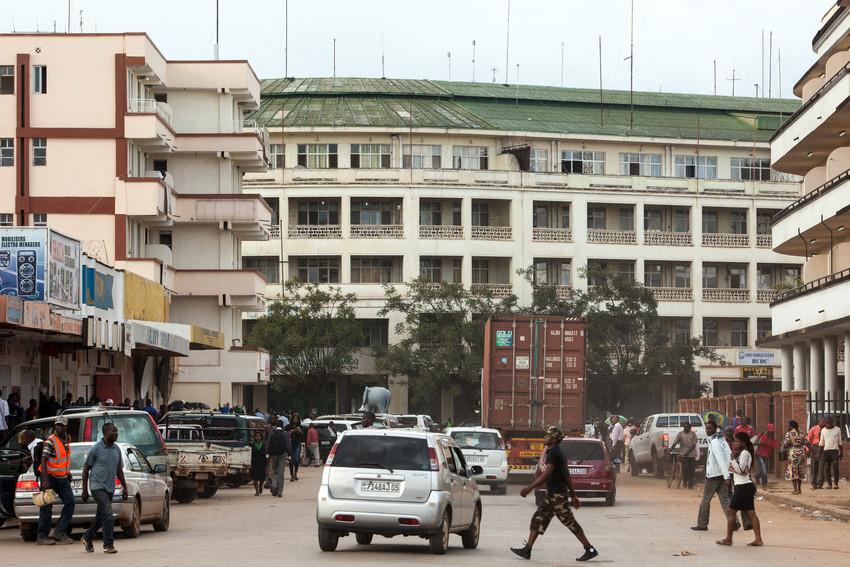 Le siège de la BCDC (Banque Centrale du Congo) à Lubumbashi, capitale de la province minière du Katanga, en République démocratique du Congo, le 24 février 2015.