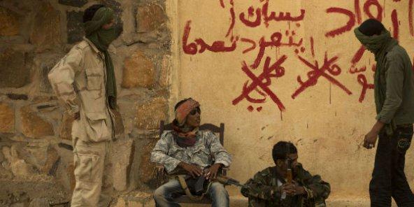 Membres du Mouvement national de libération de l'Azawad (MNLA). en 2012, à Kidal.