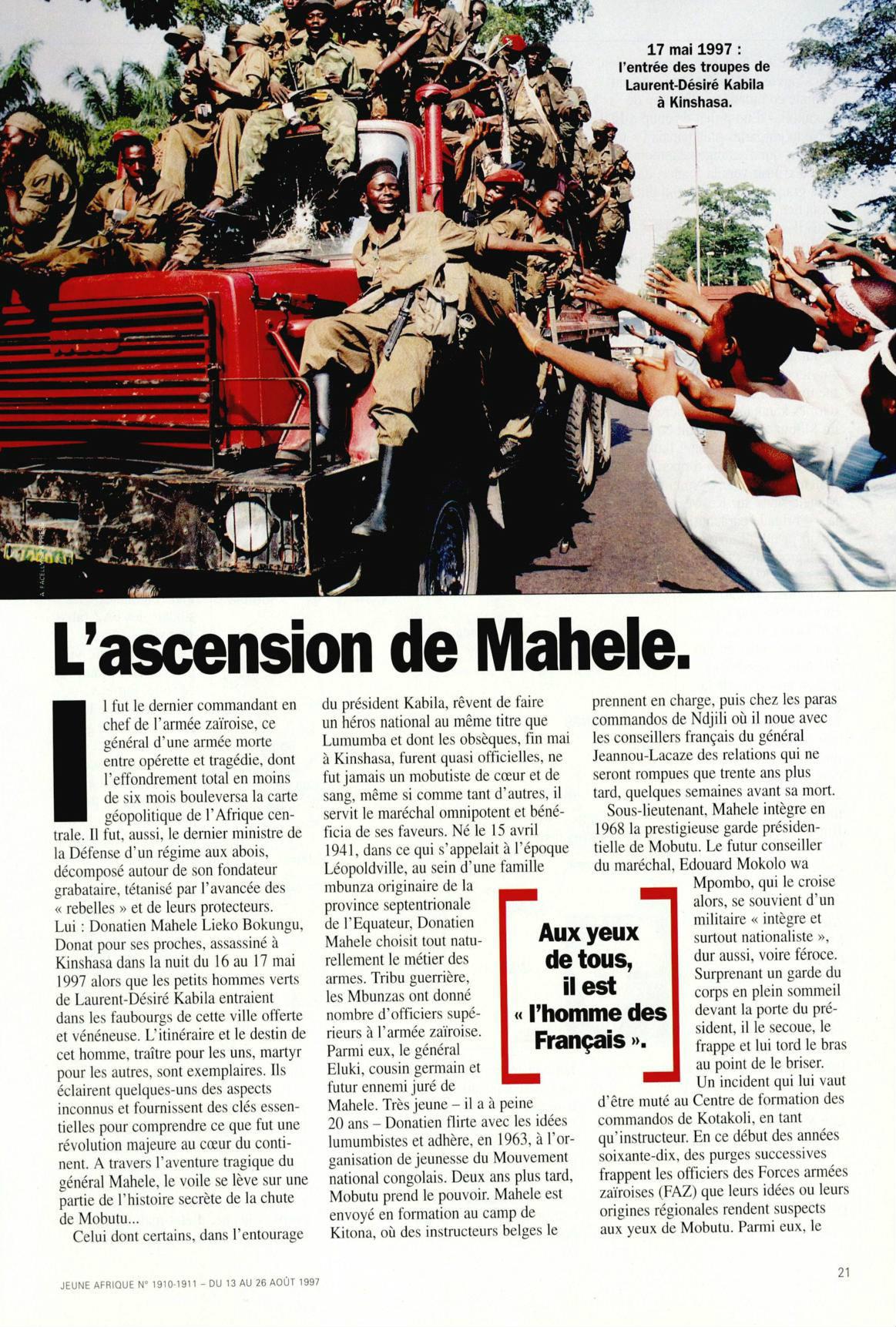 la chute de mobutu