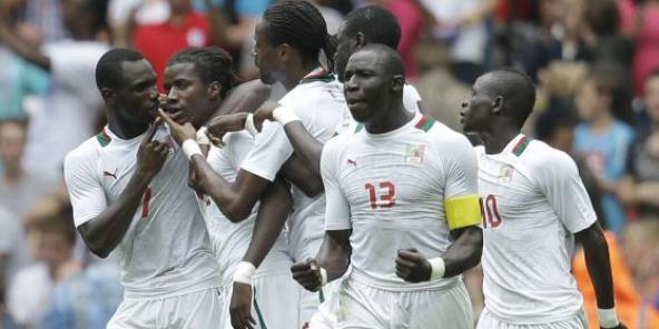 L'équipe du Sénégal lors des Jeux Olympiques de Londres en 2012.