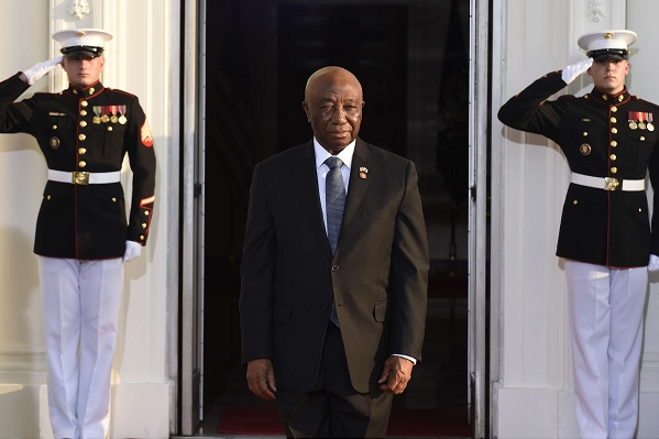 Joseph Nyuma Boakai, vice-président libérien, le 5 août 2014.