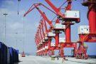 Les nouvelles grues géantes du Doraleh Multi-Purpose Port (DMP), terminal portuaire en construction par des entreprises chinoises. A Doraleh (Djibouti) le 13.03.2017.