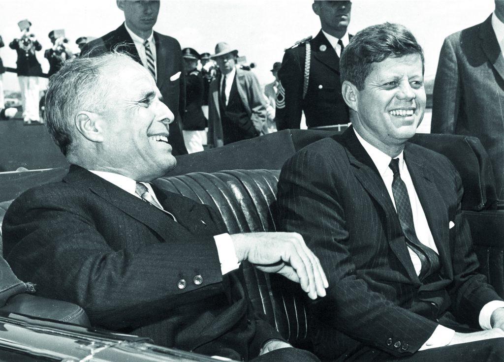 Avec Habib Bourguiba, le président tunisien, en voyage officiel aux États-Unis, le 4 mai 1961.