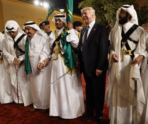 Donald Trump lors de sa visite en Arabie saoudite, le 21 mai 2017.