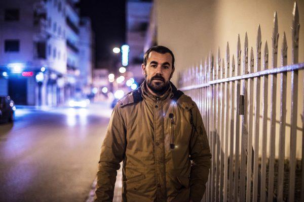 Nasser Zefzafi dans les rues d'El Hoceima, le 7février 2017.