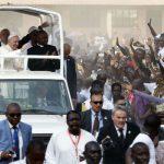 Le pape François, lors de son passage à Bangui, en Centrafrique, en novembre 2015.