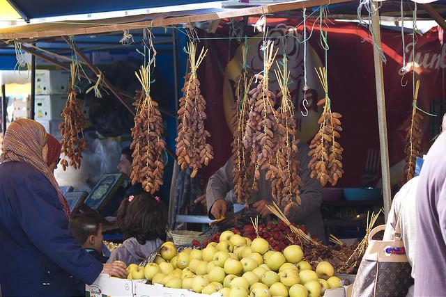 Un marché de Bizerte dans le nord de la Tunisie en mars 2013.