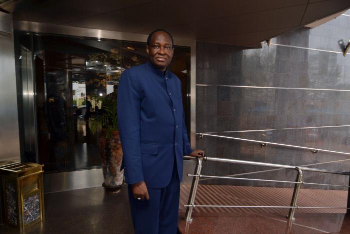 Tièbilé Dramé, président du Parti pour la renaissance nationale (Parena), à Bamako en mai 2014.