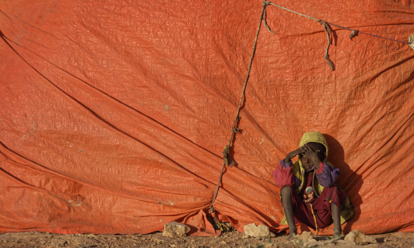 Un enfant à Qardho, en Somalie, en mars 2017.