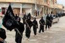 Des jihadistes de l'État islamique à Raqqa, en Syrie, en 2014.