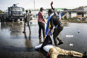 Un partisan de Jean Ping blessé lors de la manifestation du 31août 2016, à Libreville.
